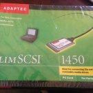 NEW Adaptec SlimSCSI 1450 PC Controller Card PCMCIA SCSI Adapter + Cable 50 PIN