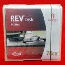 New Iomega 70GB Rev Disk for Mac PC Storage Backup Removable Media Data Cartridg