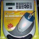 NEW USB Optical Scroll Mouse W/ Gel Pad + Built in Calculator! Scrolling PC MAC