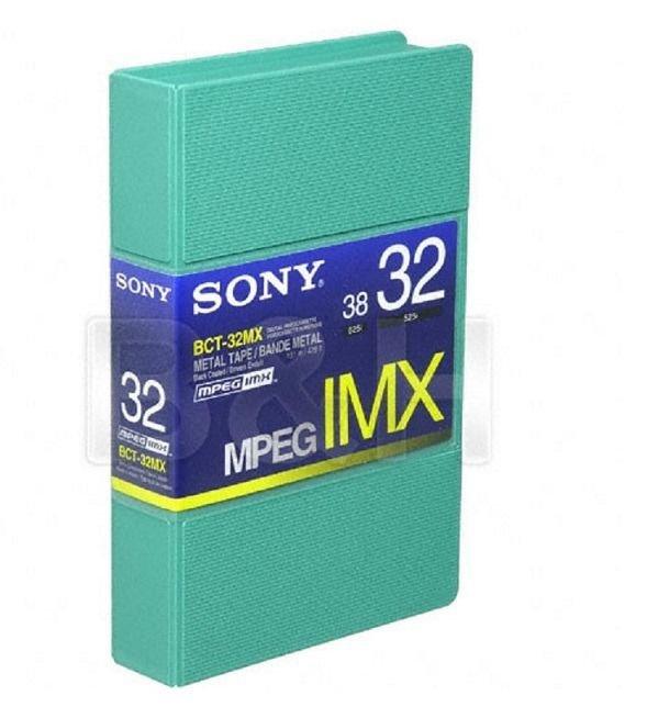 NEW Sony BCT-32MX Metal Tape MPEG IMX Digital Videotape Cassette Coated 32 38