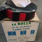 "1 ROLL 3/8"" x 12' RED Embossing Tape Label Magazine Maker Printer Dymo 2300"