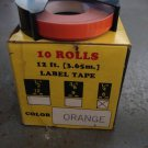 "10 PACK 1/4"" x 12' ORANGE Embossing Tape Label Magazine Maker Printer DYMO 2300"