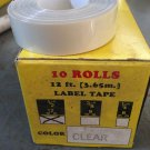 "10 PACK 1/2"" x 12' CLEAR Embossing Tape Label Magazine Maker Printer DYMO 2300"