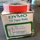 """10 Pack Dymo 3/8"""" x 12' MATTE ORANGE Embossing Tape Label Magazine Maker Printer"""