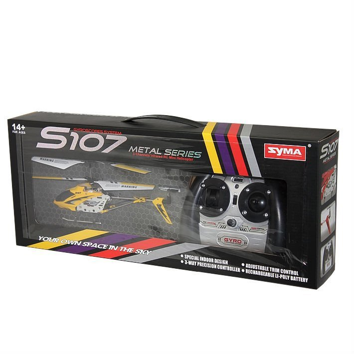 SYMA S107G w/ GYRO 3 Channel RC Helicopter -Yellow
