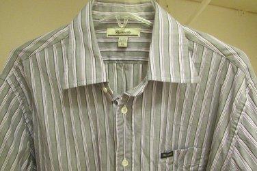 FACONNABLE Men's Button Up Dress Casual Shirt XL XLARGE MINT