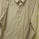 RALPH LAUREN Brown striped Custom Fit XL Shirt Cotton awesome