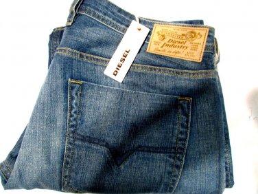 Zatiny Diesel Jeans Boot Cut Blue Men New Size 38x30