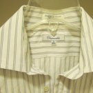 FACONNABLE  Men's Button Up Dress Casual ShirT LARGE L 16 1/5 MADE IN THE USA