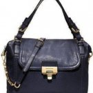 MICHAEL KORS AUTH MK BLACK Deneuve Large Leather Purse Satchel Handbag $428 NWT