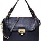 MICHAEL KORS AUTH MK BLACK Deneuve Large Leather Purse Satchel Handbag $428 NWT