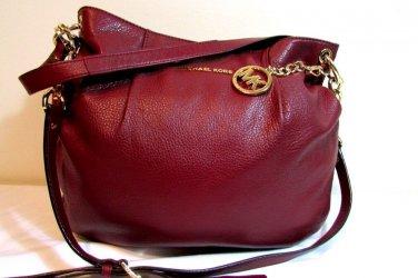 Michael Kors Bedford Leather Large Convertible Shoulder Bag Cinnabar - NWT $298