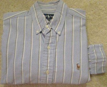 Polo Ralph Lauren LS YARMOUTH Dress Shirt Stripes  100% COTTON OXFORD 15 32/33