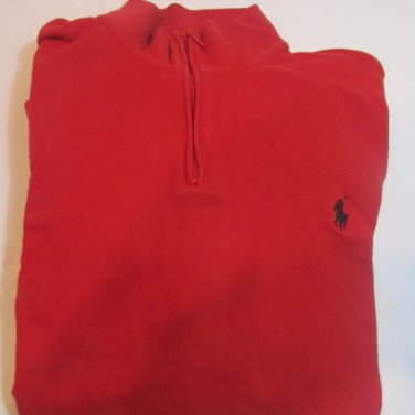 Men's POLO RALPH LAUREN SPORT POLO 1/4 ZIP Sweater ~ LARGE L ~RED