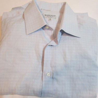 Boggi Milano mens dress shirt lightweight cotton sz 16.5/42