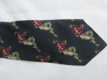 ROBERT TALBOTT For NORDSTROM FOOTBALL NECK TIE SILK Made In USA HAND SEWN