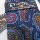 American Living Red Blue Green Design Silk Men's Tie NWT   LHK 1002