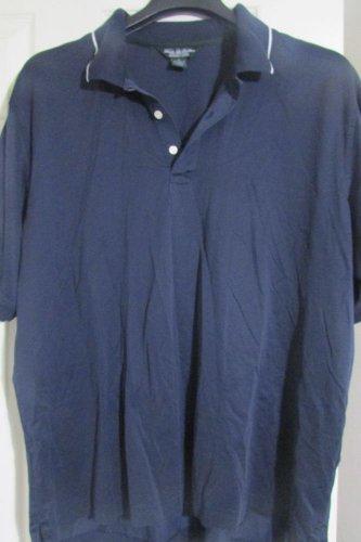 NEW! Brooks Brothers Performance Knit Polo Shirt Men XL XLARGE Blue NWOT