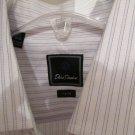 David Donahue Spread Collar Texture Men's Dress Shirt 16 1/2 34/35