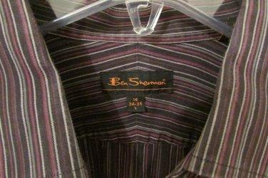 Ben Sherman Mens Dress Shirt sz 16 34/35 VERY NICE