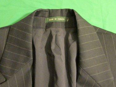 Ralph Lauren Mens 100% Wool  Blazer 3 Btn Sport Coat Jacket 38 R Canada striped