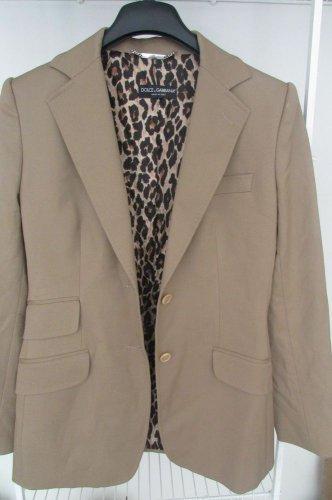 Dolce & Gabbana 90% Virgin Wool Women Blazer Jacket 44 10 Brown