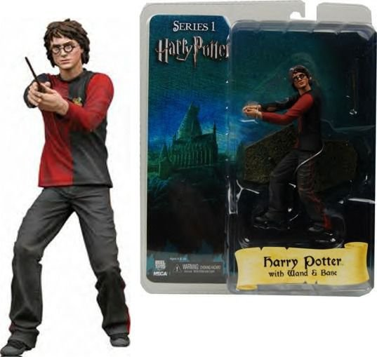"HARRY POTTER Goblet of Fire 7"" figure with wand and base NECA REEL TOYS SERIES 1"