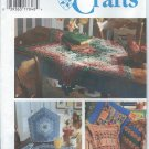 "1995-Simplicity""Crafts""pattern9501-UNCUT-YO-Yo-Pillows,Table Topper,Tea Cozy, Place Mat and Napkins"