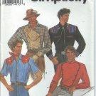 Simplicity Pattern 8441 - UNCUT- SizeBB(46-48-50-52) Men's Fitted Shirt