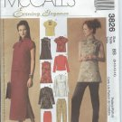 McCall's Pattern 3826-UNCUT-Size BB(8-10-12-14)Misses'/Miss Petite tops,Pants &Skirt