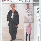 """McCall's """"Easy"""" PAttern 8092-UNCUT-Size GW(22,24,26)Misses' Shirt &Pull-On Pants"""