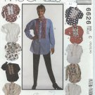 "McCall's ""Creative-Clothing"" Pattern 6626-UNCUT-Size C(10-12-14)-Misses' Shirt and Bow Tie"