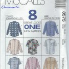 McCall's Pattern 8575-UNCUT-Size Large(38-40)Misses' and Men's Shirt