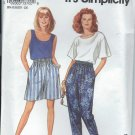 Simplicity Pattern 8254-UNCUT-Size A(10-20)Misses' Pants or shorts, Top and Tank Top