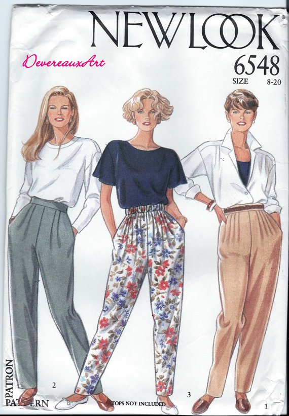 NEWLOOK Pattern 6548 - UNCUT - Size A (8-20) Seven Sizes in One (pants)