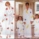 "Butterick ""Mother and Daughter"" Pattern 4748 - Misses'/Children's/girl's Robe, Belt and Appliques"