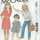 """1979 - McCall's """"Carefree"""" Pattern 6679 - UNCUT - Size 4 - Children's and Girl's Dress or Top"""