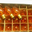 25 Transparent Amber C7 5watt Christmas Light Bulbs Vintage Style New in Box