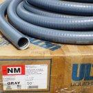 "50' x 1-1/2"" 1.5"" Liquid-Tight Flexible NM Non-Metallic Conduit Ultratight Grey"