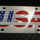 USA Stainless Vanity License Plate Heavy Guage Mirror Finish