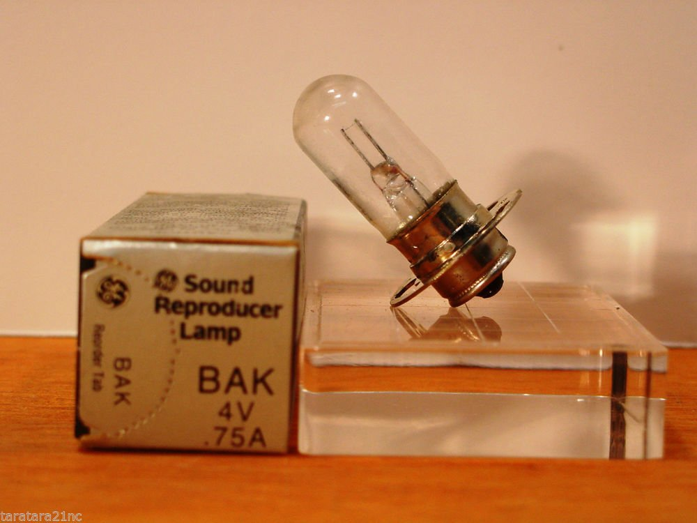 Qty = 4 Bulbs GE LAMP BAK Bulb 4V .75A ACG51-A1 NEW IN BOX