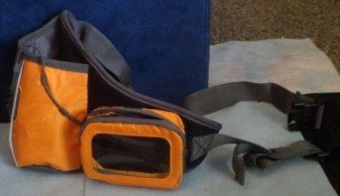 Water bottle, digital player carrying case, waist pack