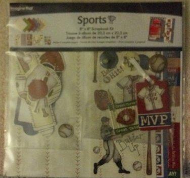 """Sports! 8"""" x 8"""" Scrapbook Kit"""