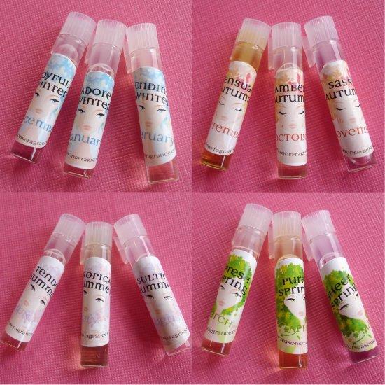 Perfume Tester Samples: 12 Perfume Oil TESTERS SAMPLES By Four Seasons Fragrance 12 Perfume Oils VEGAN