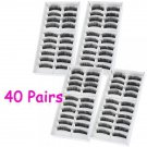 40 Pairs New Makeup Long Fake False Eyelashes Eye Lash Set