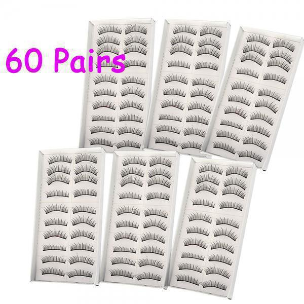 60 Pairs Professional Makeup Fake False Eyelashes Eye Lash Set
