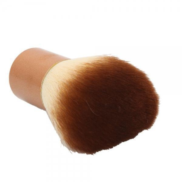Nylon Professional Studio Makeup Loose Powder Blush Brush Brown