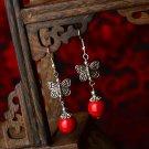 chinese style butterfly dangle earrings