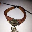 revival  four leaf clover leather bracelet