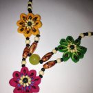 Yunnan nalional style handmade cloth flower necklace
